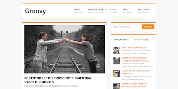 Бесплатный Блоговый WordPress шаблон Groovy