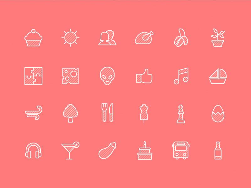 штрихованные иконки