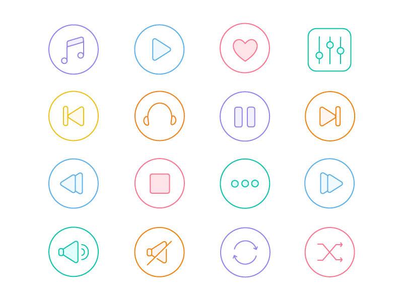 бесплатные иконки из серии музыка