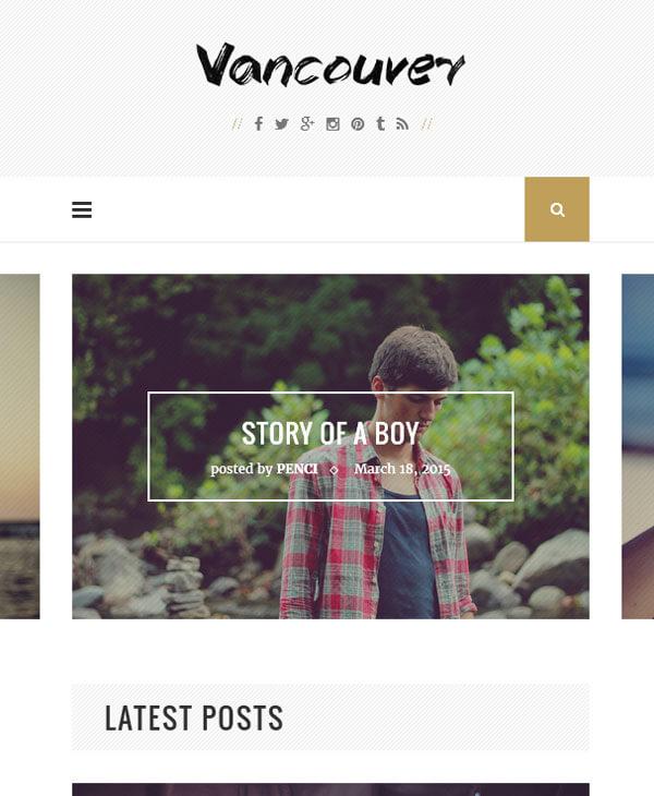 Vancouver - блоговый шаблон wordpress, многоцелевой