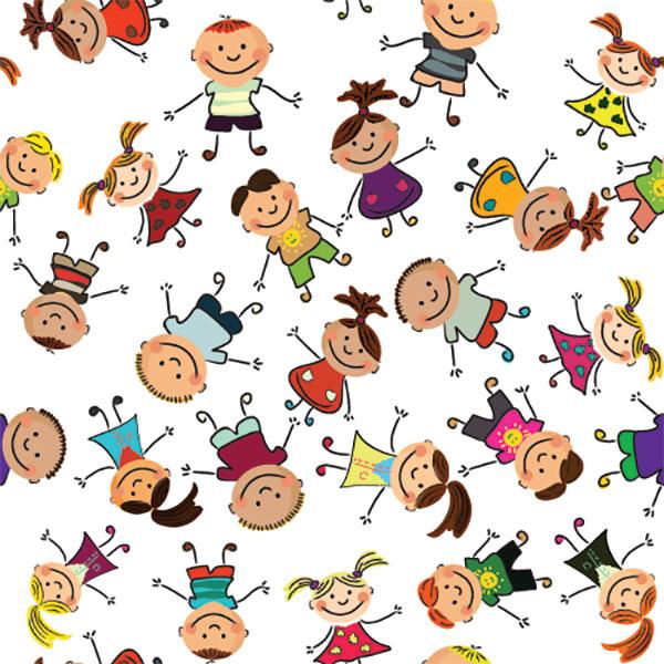 Нарисованный детский фон веселые ребята