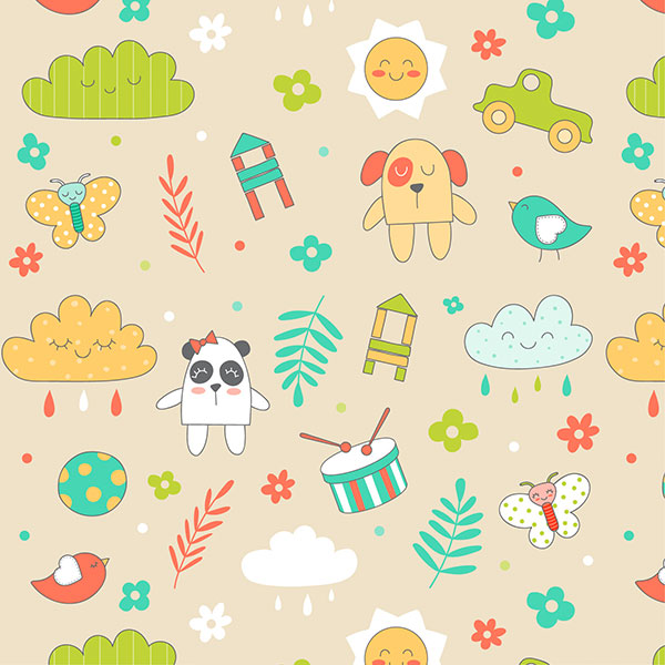 Бежевый фон для детского сайта летний дождик