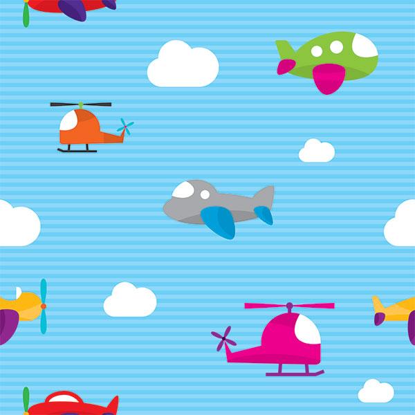 Мультяшный фон детские самолетики