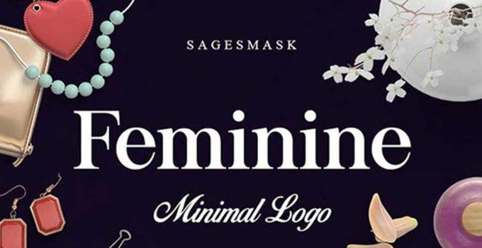 Минималистичные, женственные логотипы Feminine