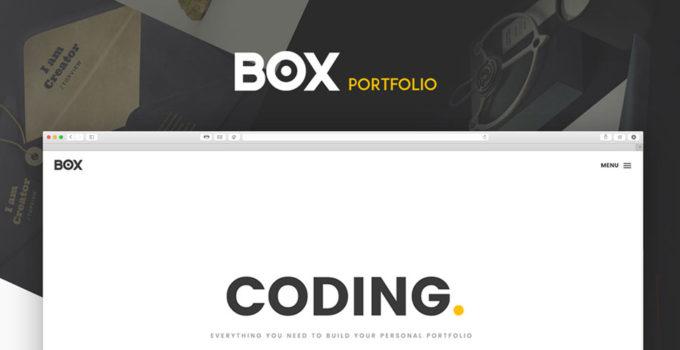 Бесплатный HTML шаблон портфолио — Box Portfolio