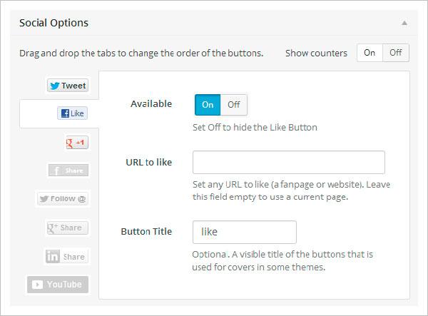 Панель опций и настройка плагина Social Locker for WordPress