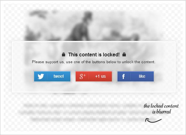 Защитить текст с помощью плагина Social Locker for WordPress
