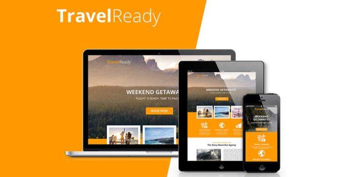 Шаблон Landing Page Туризм, Путешествия