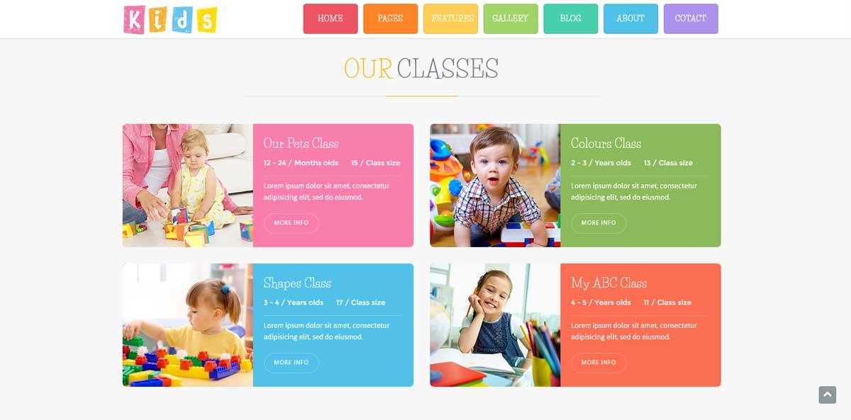 WordPress шаблон образавние наши классы