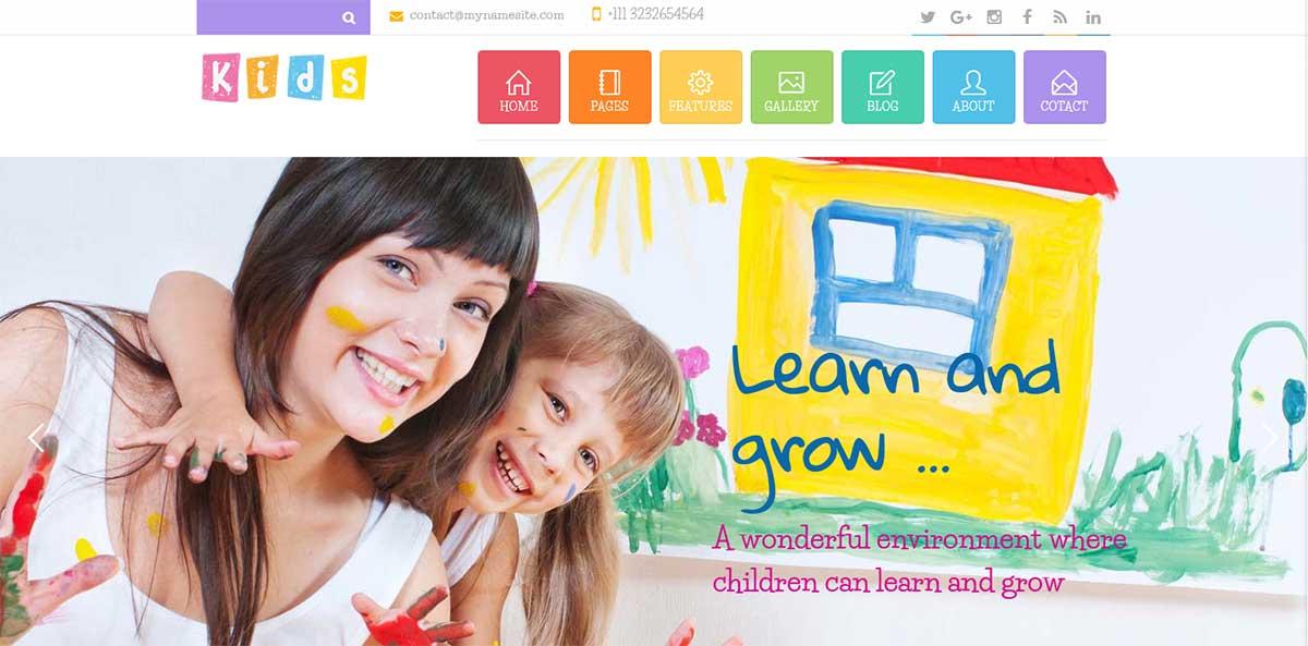 WordPress шаблон детский сад и начальная школа