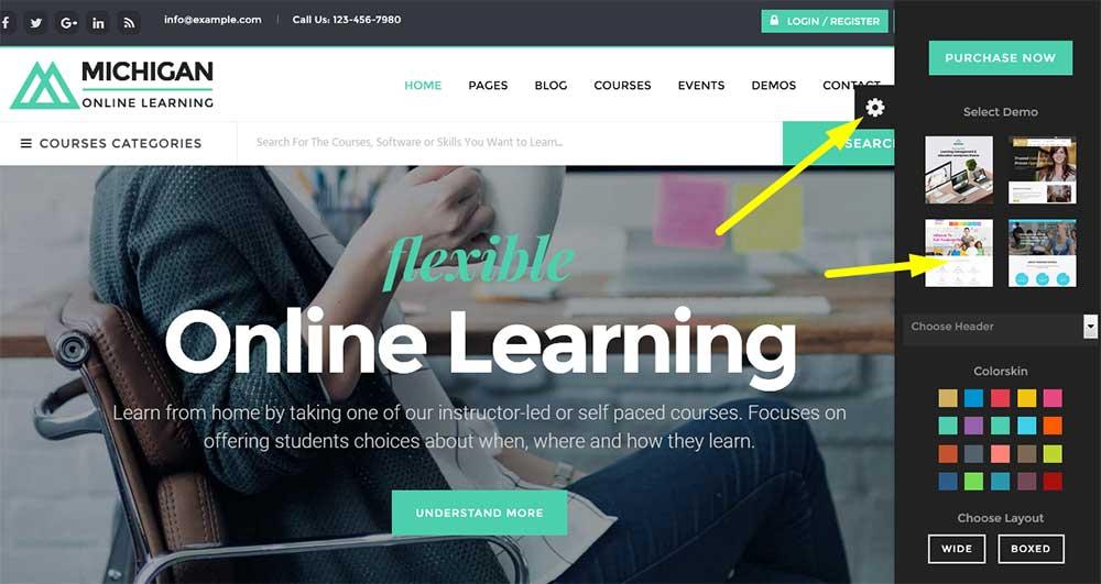 Посмотреть демо детского WordPress шаблона образование