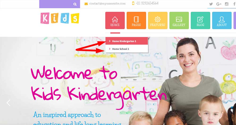Посмотреть Два WordPress шаблона для детского сада и начальной школы