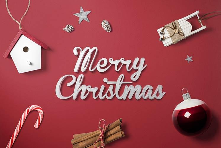 Скачать Бесплатный Рождественский шаблон Mockup
