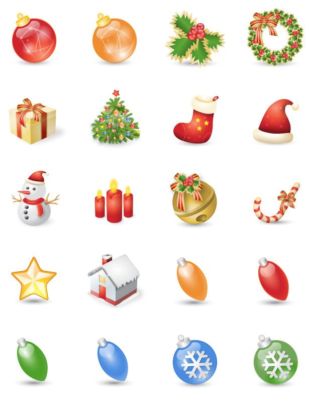 Скачать набор новогодних иконок