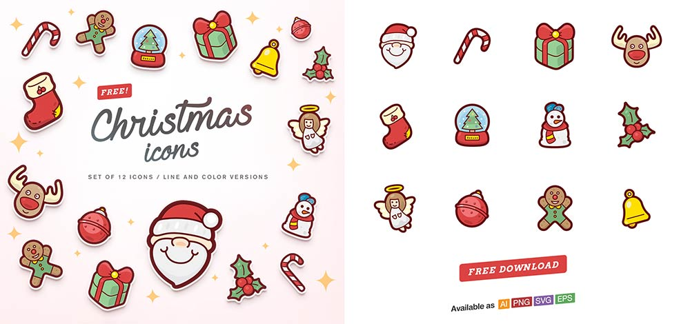 Скачать бесплатные рождественские иконки