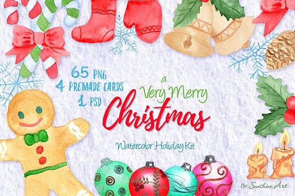 Набор Рождественской акварели