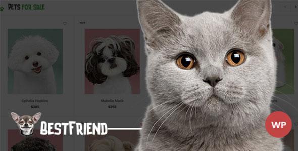Bestfriend - WordPress шаблон магазин домашних питомцев