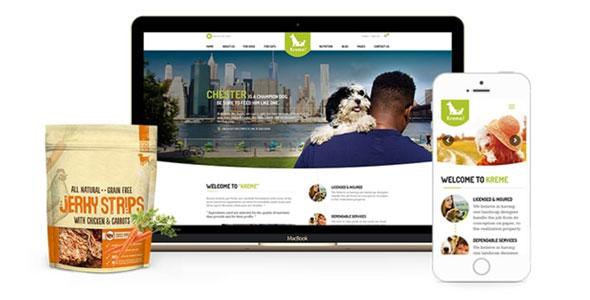 Kreme - Pet Shop - WordPress шаблон для сайта собак