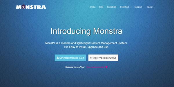 Бесплатная CMS Monstra без базы данных