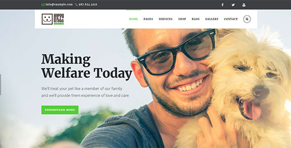 Happy Pets - Магазин для домашних животных на WordPress