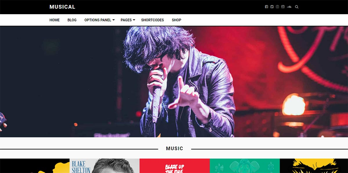 бесплатный музыкальный WordPress шаблон - Musical