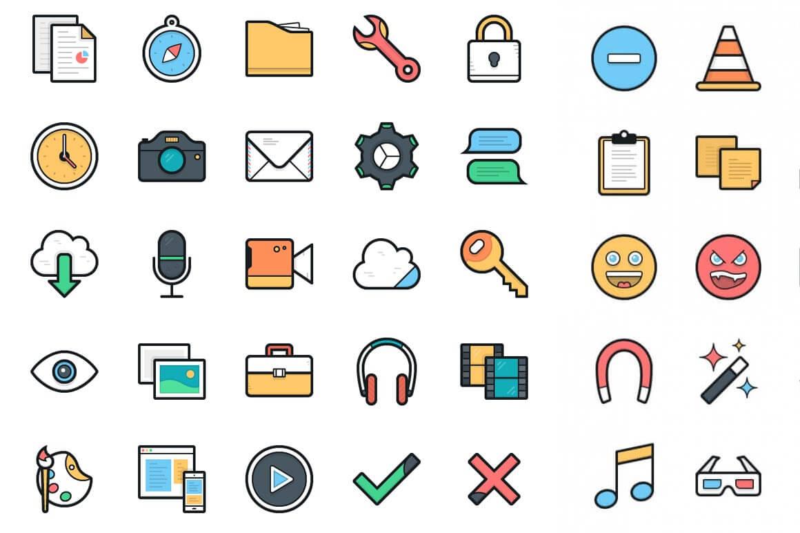 100 векторных иконок Lulu