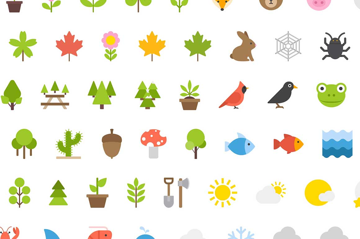 100 иконок природа