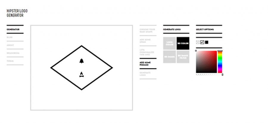 Hipster Logo Generator создает иконки в хипстерском стиле