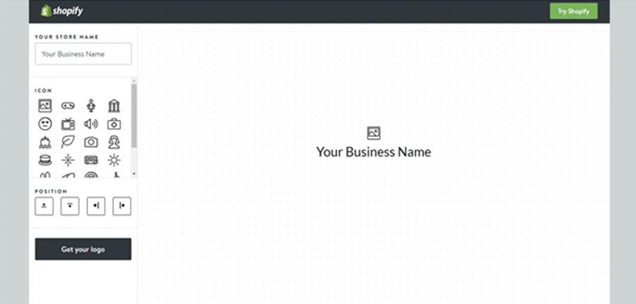 Shopify логотипы сделать просто, бесплатно, онлайн
