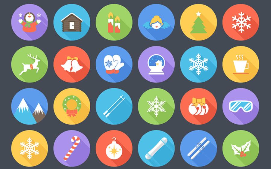 36 рождественских и зимних иконок