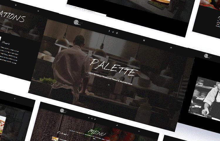 Palette - бесплатный html шаблон на Bootstrap 4 для Ресторана