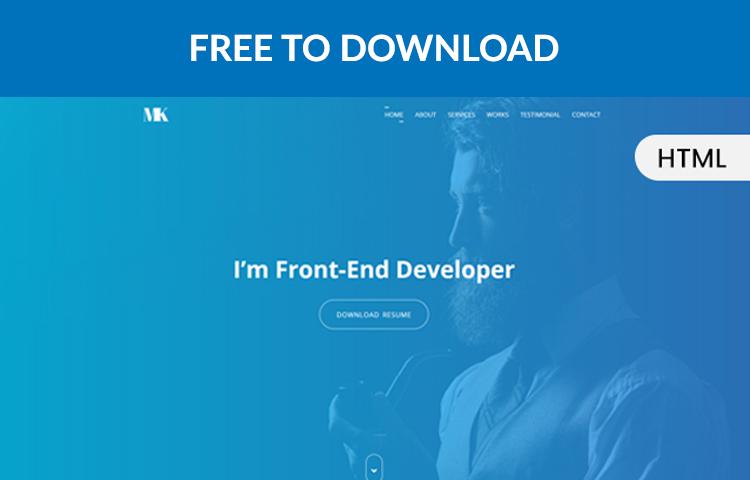 Portfolio – одностраничный html шаблон на Bootstrap 4