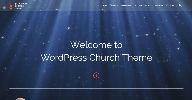 Адаптивная WordPress Тема Для Конференций - Church And Events