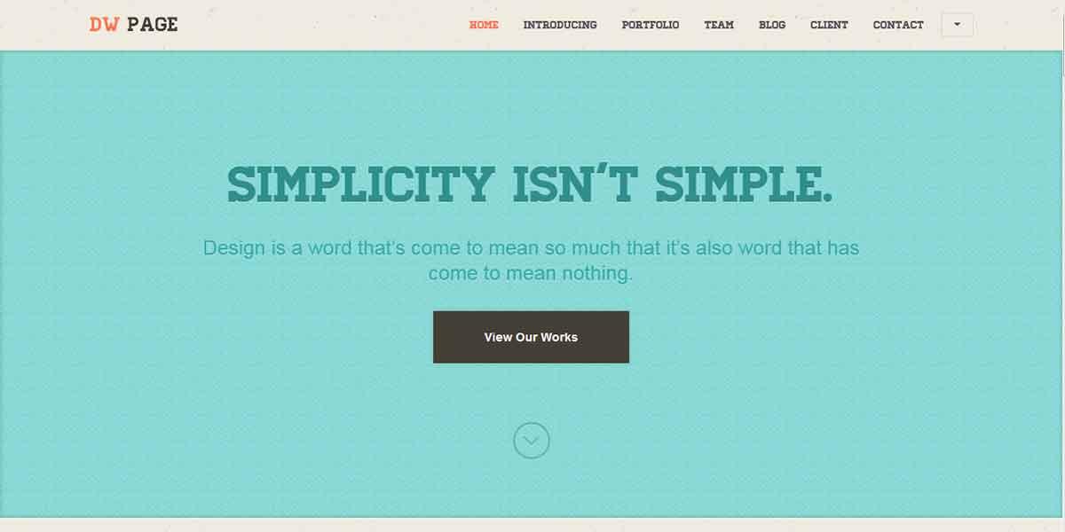 Одностраничный ретро WordPress шаблон и лендинг с подпиской