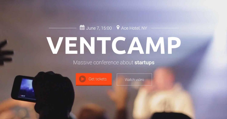 Отзывчивый Шаблон Landing Page Для Конференции - Ventcamp