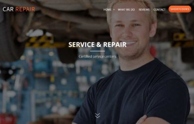 Одностраничный Landing Page ремонт автомобилей