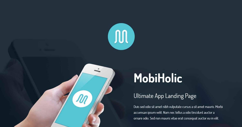 Два шаблона landing page для мобильных приложений
