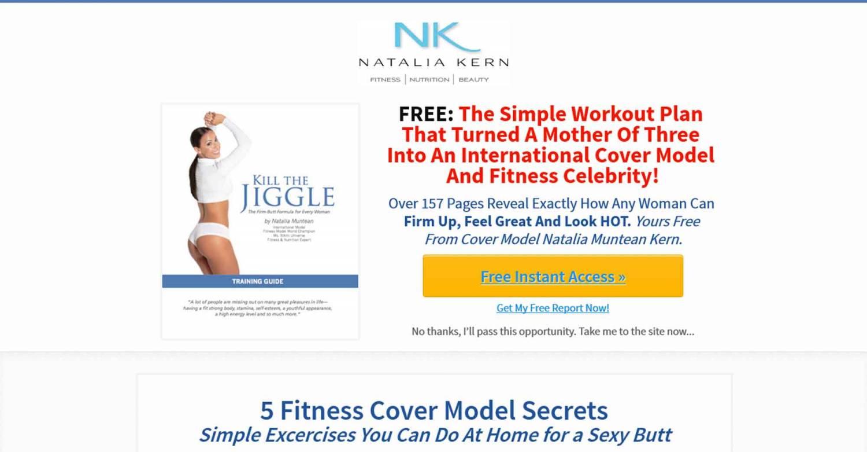 Лендинг пейдж для фитнеса (онлайн, оффлайн или видео уроки)