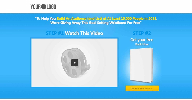 Шаблон лендинг пейдж с видео презентацией и бесплатным курсом