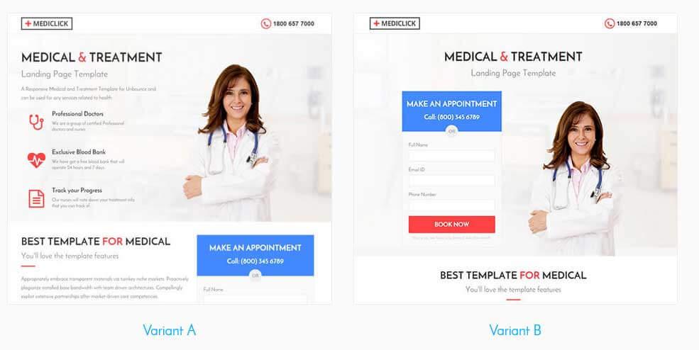 Шаблон Landing Page медицина