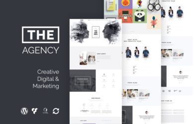 одностраничный WordPress шаблон The Agency